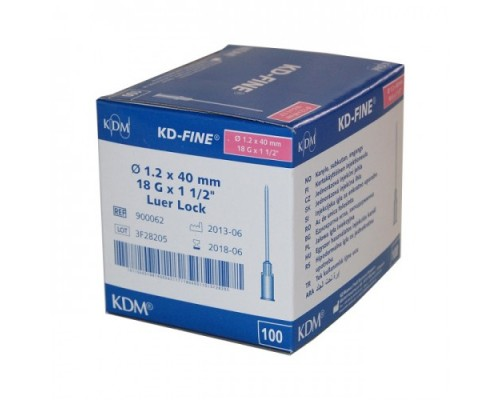 Игла инъекционная 18G (1,2 х 40 мм) KDM
