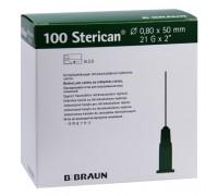 Игла инъекционная 21G (0,8 x 50 мм) B.Braun