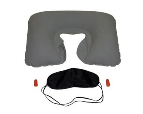 Надувная подушка с набором для сна