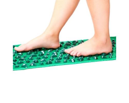 Рефлекторный массажный коврик для ног длинный Ommassage Green Mat 173х35 см