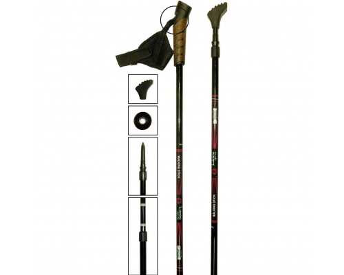 Палки для скандинавской ходьбы Luomma с карбоном 15%