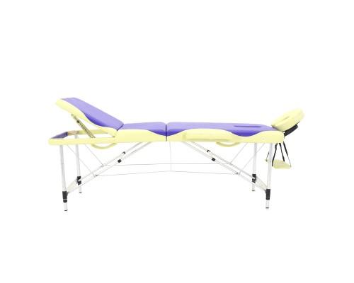 Массажный стол складной алюминиевый Med-Mos JFAL01A М/К (3-х секционный) (МСТ-102Л)