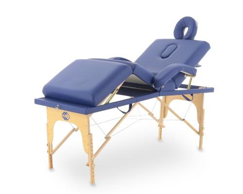 Массажный стол складной деревянный Med-Mos JF-Tapered (МСТ-141) 4-х секционный